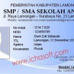 Software Kartu Pelajar SMP